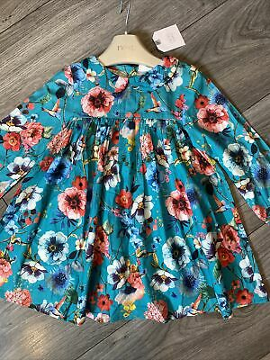 £8 • Buy Next Baby Girl Floral Dress / Ted Baker Style Print 12-18 Months BNWT
