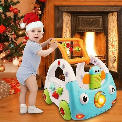 £44.99 • Buy Baby Walker First Step Push Along Bouncer Music Ride On Car Melody Girls Boys