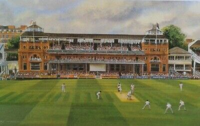 £24 • Buy CRICKET  Pair Of Terry Harrison Signed Prints Of Lords And The Oval.