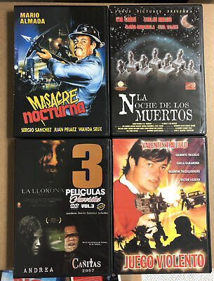£21.79 • Buy Mexican Genre DVD Lot Horror Exploitation Action SOV Gore Video Indie No English