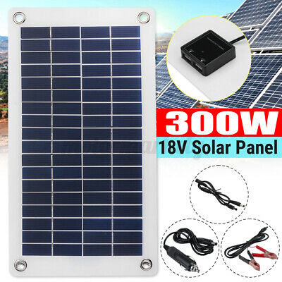 £21.59 • Buy 12V 40W Dual Double USB Flexible Solar Panel Battery Charger For Boat Car