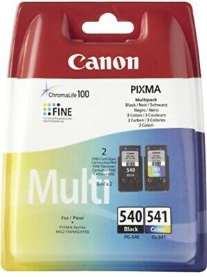 £29.99 • Buy Genuine Canon PG-540 And CL-541 Ink Cartridge - Black And Colour Multipack Combo