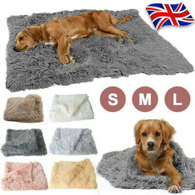 £6.99 • Buy Pet Puppy Soft Fluffy Cosy Warm Throw Mat Extra Large Dog Cat Blanket Cushion