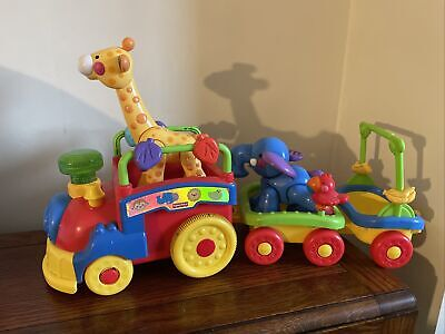 £7.99 • Buy Fisher Price Animal Train Toy Sounds With Animals Giraffe Elephant Music