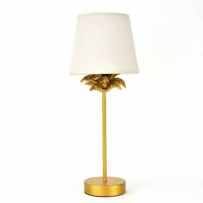 £19.99 • Buy Hestia Gold Effect Palm Tree Table Lamp With Beige Shade - **Slight Seconds**