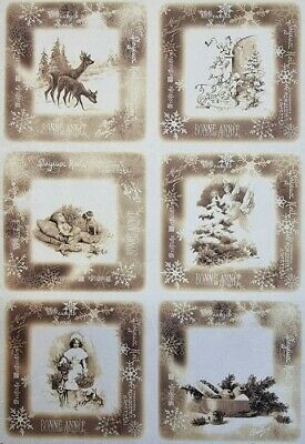 £1.99 • Buy Rice Paper For Decoupage Scrapbook Craft Winter Picture 202