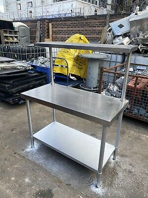 £165 • Buy Stainless Steel Commercial Table With Top / Underneath Shelf