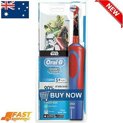 AU31.99 • Buy Extra Soft Oral-B Stages Power Kids Electric Toothbrush Disney Star Wars Kid NEW