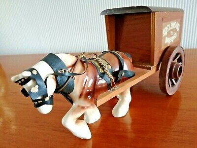 £8 • Buy Mid-Century Pottery Shire Horse And Cart - Melwood Bakeries