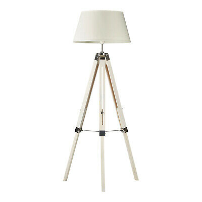 AU139 • Buy White Tripod Floor Lamp With White Shade