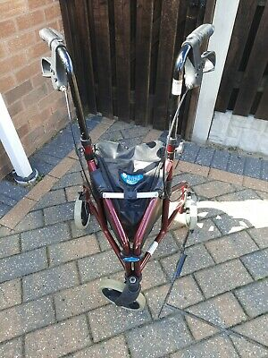 £7.50 • Buy Tri Walker With Bag / 3 Wheeled Mobility Aid With Basket Foldable Adjustable