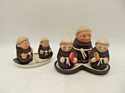 £4.99 • Buy COLLECTABLE HUMMEL GOEBEL Monk Friar Condiment Set Salt And Pepper On Tray