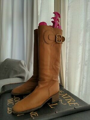 £35 • Buy Ladies Chloe Tan Leather Boots Size 6 (39)