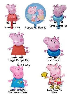 £2.98 • Buy Peppa Pig George Family Balloons Children Girls Boy's Birthday Party Decorations