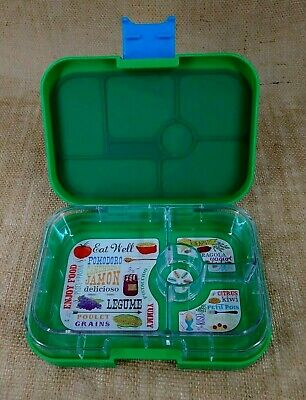 AU24.62 • Buy YUMBOX Kids Bento Lunch Box Leakproof Container Green 4 Compartments