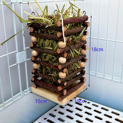 £12.99 • Buy Rabbit Hay Feeder  Standing Rack With 2 Hooks Biting Resistant Small Animals