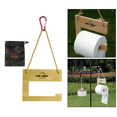 AU15.73 • Buy Hanging Paper Roll Holder Toilet Paper Rack Stand For BBQ Outdoor Party