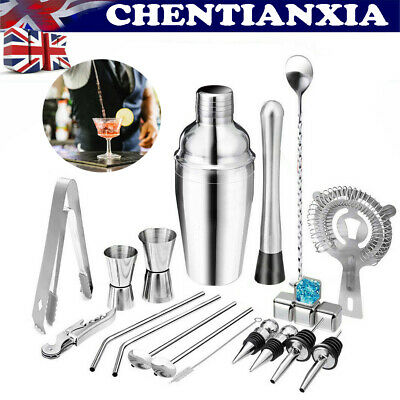 £19.69 • Buy 22-Piece Stainless Steel Cocktail Shaker Set Cocktail Drink Mixing Bartender Kit