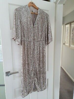 £39.99 • Buy River Island Sequined Midi Dress Size 12