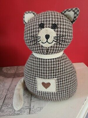 £8 • Buy Cat Fabric Door Stop Stopper Weighted Filled Heavy Ornament