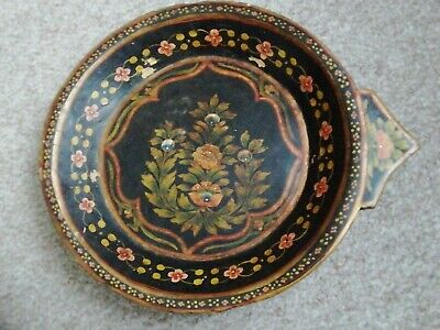£24.99 • Buy Vintage Hand Carved Wooden Hand Painted Bowl Dish