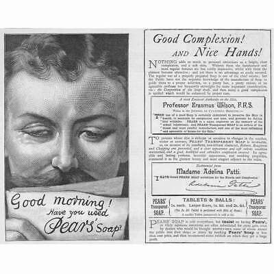 £9.95 • Buy Good Morning! Have Used PEARS SOAP - Victorian Advertisement 1890