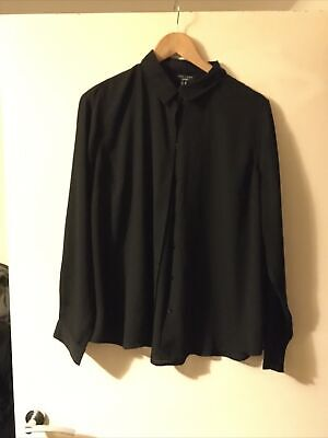 £4.99 • Buy New Look Curves Black Button Shirt Sz 20 Polyester