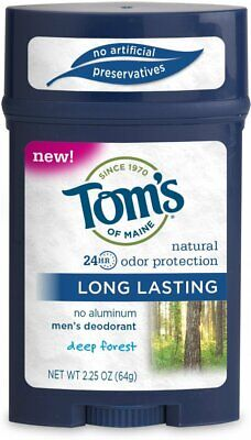 £9.07 • Buy Men's Long Lasting Deodorant Stick By Tom's Of Maine, 2.25 Oz 1 Pack Deep Forest