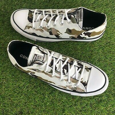 £27.99 • Buy Converse All Star Trainers Size 7 UK White Green Black Camouflage WORN ONCE (43)