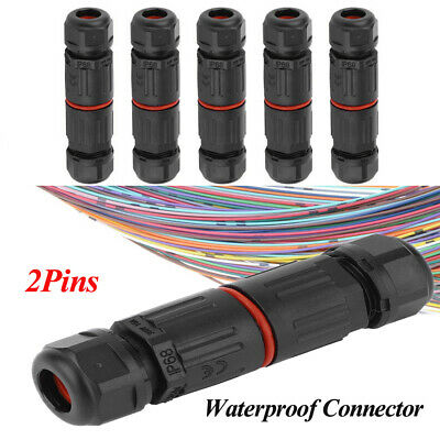£3.36 • Buy 2 Pole Core Joint Outdoor IP68 Waterproof Electrical Cable Wire Connector Kits