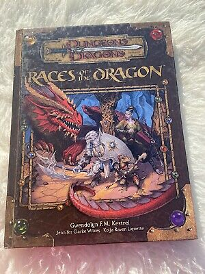 AU112.50 • Buy Dungeons & Dragons 3.5 Races Of The Dragon D&D HC Book First Print Acc425