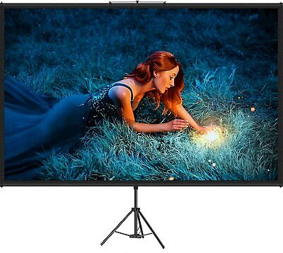 AU108.97 • Buy VEVOR 100  Tripod Projector Screen With Stand 4K HD 16:9 Home Cinema Portable