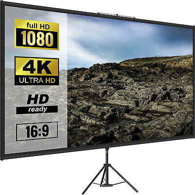 AU69.99 • Buy VEVOR 80  Tripod Projector Screen With Stand 4K HD 16:9 Home Cinema Portable