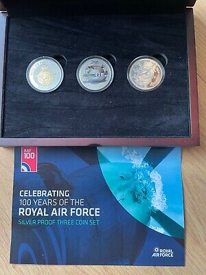 £44.80 • Buy Celebrating 100 Years Of The RAF Silver Proof 3 Coin Set - £5's Each - Stunning