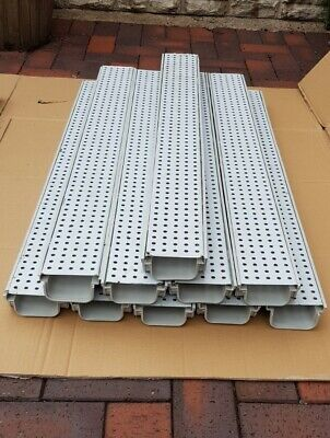 £79.99 • Buy 10 X 1 Mtr DRAINAGE CHANNEL - PEGASUS PLUS ONE S WITH STEEL GRATING  IN GREY