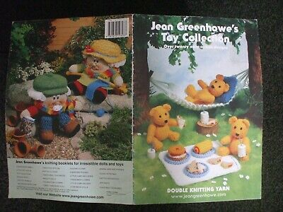 £3.99 • Buy Jean Greenhowe Toy Collection Dolls Animals Soft Toy Knitting Pattern Book Vgc