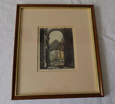 £12.50 • Buy Beautiful Framed Picture Print On Paper Architecture Archway Signed