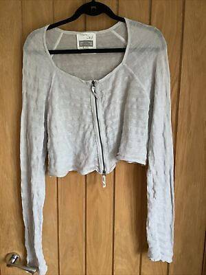 £9.99 • Buy ANNETTE GORTZ Cropped Layering Cardigan In A Neutral Colour Size XL