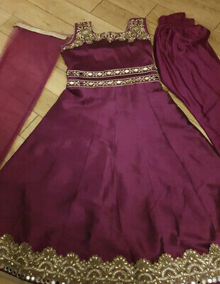 £5.40 • Buy Bollywood Girls Indian Anarkali Dress Suit Age 6-7 Years