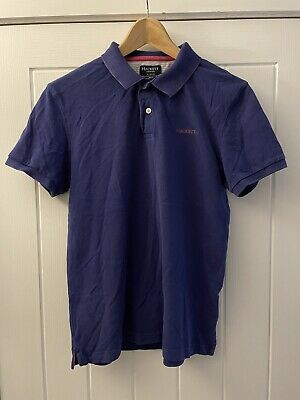 £9.99 • Buy Hackett London Polo Shirt Mens Size Small Tailored Fit Purple Pink VGC