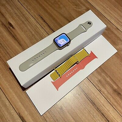 AU429 • Buy Apple Watch Series 5 44mm Gold GPS As New Three Straps Complete Package