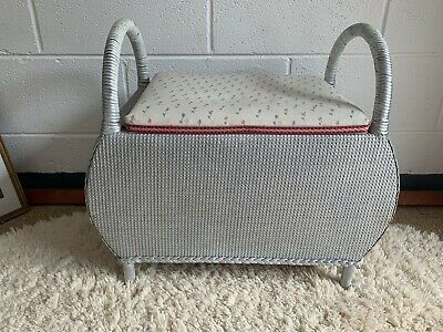£49.99 • Buy Vintage Woven Wire Stool Sewing Box Need Repair To Seat IDEAL PROJECT Free Post