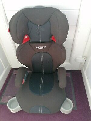 £7 • Buy Graco Junior Maxi Lightweight 4-12 Years Kids High Back Booster Car Seat - Blac…