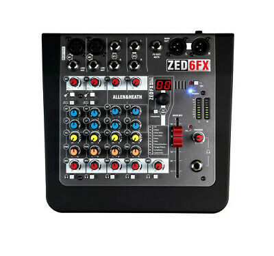 £99.99 • Buy Allen And Heath ZED-6FX - 6 Channel Compact Analogue Mixer