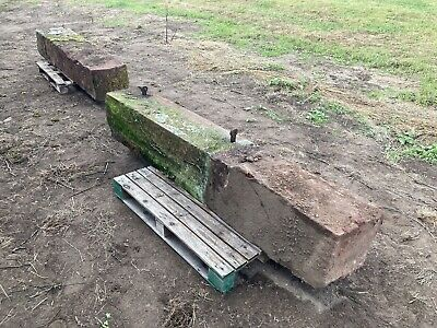 £800 • Buy Pair Of Large Sandstone Gate Posts With Curved Tops (set A)