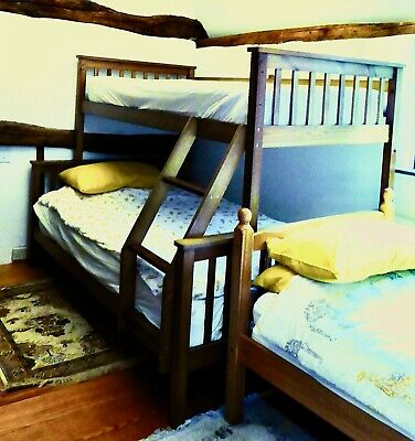 £175 • Buy Triple Sleeper (single Over Double) Wooden Bunk Beds In Good Condition.
