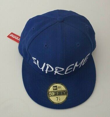 £250 • Buy Rare New With Tag SS13 Supreme FTP New Era 7 1/8 Blue Cap Hat Snapback Vintage