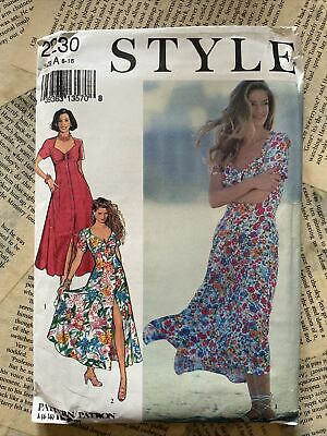 £9.99 • Buy Style Sewing Pattern 2230 Short Sleeve Fitted Dress Size 6-16 Uncut