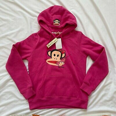 £21.10 • Buy Paul Frank Juniors Plus Pink Long Sleeves Casual Logo Front Hoodie Size Small