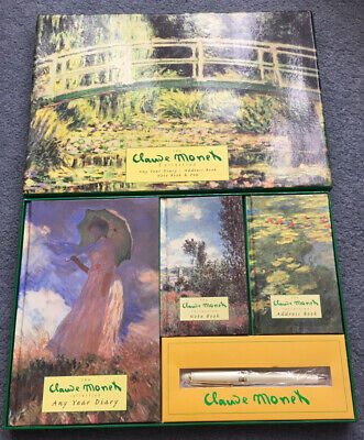 £25 • Buy The Claude Monet Collection Any Year Diary, Address Book, Note Book & Pen Set